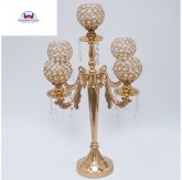 5 arm Crystal Goblet Candelabra 85cm Wedding Decor Christmas-Silver or Gold