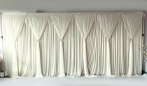 6 Panel Detachable Ivory Grecian Overlay for Wedding Backdrop --1M X 3M EACH