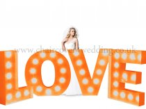 LOVE Light Up Letters (3FT)-Vintage Colour-Mains