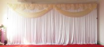 Ivory Butterfly Backdrop Curtain