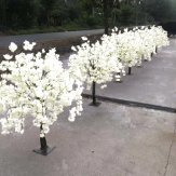 150cm IVORY ARTIFICIAL WISTERIA CHERRY BLOOM TREE