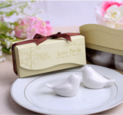 Set of Love birds Salt and Pepper shaker Wedding Favors or Wedding gift -White