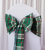 Green Tartan Sashes Design 2