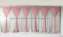 6 Panel Detachable Mauve Grecian Overlay for Wedding Backdrop-1M X 3M EACH