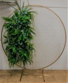 WeddingGeneral Gold Round Metal Mesh Wedding Arch Frame Moongate -200cm