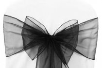 Organza sash Black -Soft Feel sash