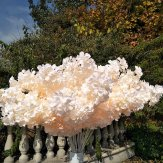 10x102cm Artificial Peach Cherry Blossom Flowers Silk Sakura Branches for Wedding
