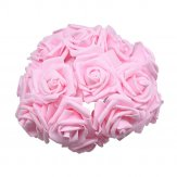 Silk ROSE BUNCH OF 12 Pink Bouquet