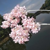 10x102cm Artificial Pink Cherry Blossom Flowers Silk Sakura Branches for Wedding