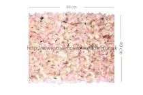 Wedding Flower Wall Backdrop Panels for Sale 60cmx40cm-Pink/Cream