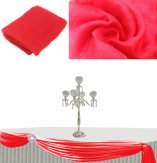 Sheer Organza Swag Fabric For Wedding Decoration 280cm x 10meters-Red