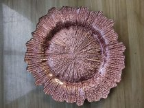 RoseGold Reef Charger Plate