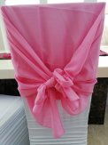 CHIFFON HOOD WITH RUFFLES Rose-Coral