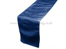 Navy Taffeta Table Runner