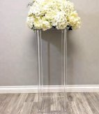Rectangle Acrylic Wedding flower stand for Table centerpiece event decoration-80CM