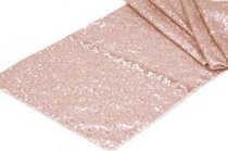 Rose Gold Sequin Table Runner 30 x 275CM