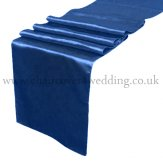 Navy Blue Satin Runner