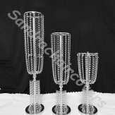 Table Top Crystal Wedding Chandelier Stand Centerpiece-80CM H* D22cm-Silver