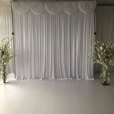 Silk Backdrop Curtain with swags (3m Wide x 3m Drop) White