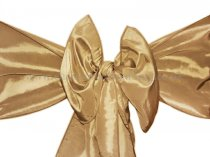 Gold (Dark Gold) Taffeta Sashes