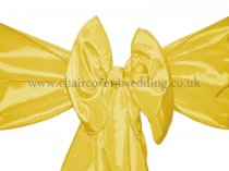 Canary Yellow Taffeta Sashes