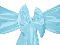 Light Blue Taffeta Sashes