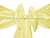 Maize Yellow Taffeta Sashes-(Yellow in Chart)