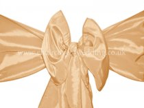 Peach Taffeta Sashes