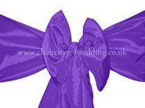 Purple Taffeta Sashes