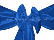 Royal Blue Taffeta Sashes