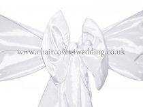 White Taffeta Sashes