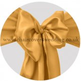 Gold-Bright Gold Satin Sashes