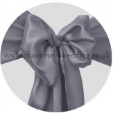 Dark Silver Satin Sashes