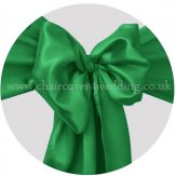 Emerald Green Satin Sashes