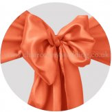 Burnt Orange Satin Sashes