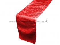 Red Taffeta Table Runner