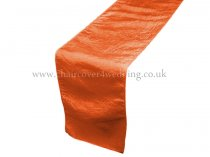 Orange Taffeta Table Runner
