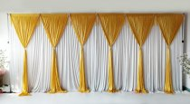 6 Panel Detachable Gold Grecian Overlay for Wedding Backdrop --1M X 3M EACH