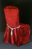Velvet chair covers with tassels