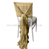 CHIFFON HOOD WITH RUFFLES Gold