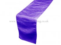 Purple Taffeta Table Runner
