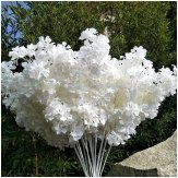 10x102cm Artificial White Cherry Blossom Flowers Silk Sakura Branches for Wedding