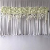 Ivory WISTERIA FLOWER PANEL for BACKDROP  60cm wide