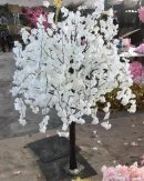 120cm WHITE ARTIFICIAL WISTERIA CHERRY BLOOM TREE  TABLETOP CENTERPIECE