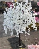 150cm WHITE ARTIFICIAL WISTERIA CHERRY BLOOM TREE