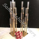 Weddings Tall Gold Candelabra Candle Holder Gold Metal Wedding Table Centerpiece Stands