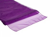 Organza Table Runner Aubergine