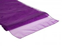 Organza Table Runner Eggplant