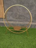 Gold Metal Twin Hoop Cake Stand 80cm