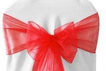 Organza Sash Red -Soft Feel sash